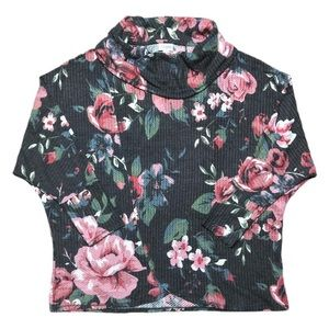 LuLaRoe Small Gray Floral Kristen Cowl Pull-Over